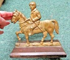 "Brass Boy on Horse Victorian Times approx 9""L 4""W 8-1/2""H Brass K09 Mark"