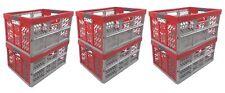 6x PROFESIONAL - Caja plegable TÜV CERTFICADO 45L hasta 50KG PLATA / Rojo