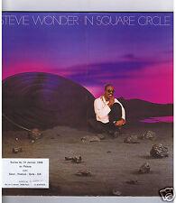 LP STEVIE WONDER IN SQUARE CIRCLE (STICKER SOIREE AU PALACE 1986)