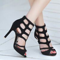 Women Gladiator Sandal Shoes Plus Size Stiletto High Heel Party Clubwear Pumps