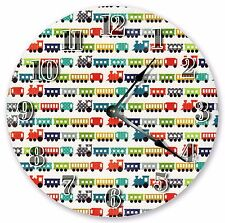 "10.5"" COLORFUL TRAINS CLOCK - Large 10.5"" Wall Clock - Home Décor Clock - 3102"