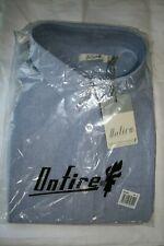 Onfire Men's  Long Sleeve chambray Blue oxford Shirt - Size: XL
