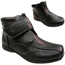 """ TWIN ZIP "" WOMENS LADIES WIDE COMFORT WINTER  ANKLE BOOTS SHOES SIZE WEDGE LOW"