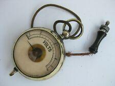 antique brass pocket volts voltmeter