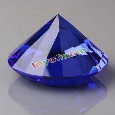 20mm Blue Crystal Diamond Shape DIY Paperweight Gem Display Ornament AB
