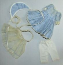 Vintage Cosmopolitan Ginger Doll Blue Gingham Dress and Accessories