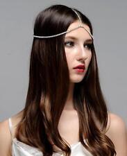Hair Goddess Jeweled Headpiece Forehead Hobo Bohemian Headdress Head Chain