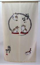 Japanese NOREN Door Curtain Maneki Neko Fortune Cat  NEW W85 x H150 cm