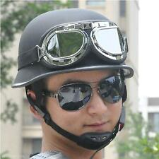 Men's Motorcycle Scooter Riding Half Helmet With Pilot Goggles Head Protect Safe