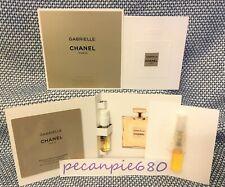 CHANEL GABRIELLE EDP BODY LOTION  3 x 1.5 ml sprays + 2 sample packet PLS READ