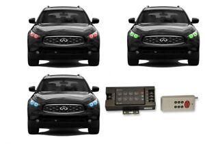 for Infiniti QX70 13-17 RGB Multi Color RF LED Halo kit for Headlights