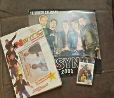 Vintage Nsync Deluxe Foil Valentines, Wall Calendar, Pocket Mirror Collector Set
