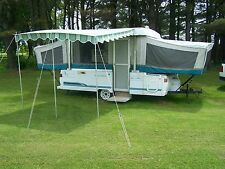 """VINTAGE DELUXE AWNING 11' 9"""" X 9' FLORENCE GREEN"""
