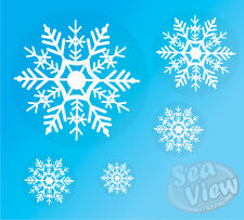 38 Snowflake Window Stickers Reusable Christmas Decorations Static Cling