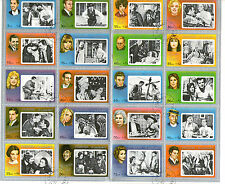 FUJEIRA 1972 FAMOUS FILM STARS COMMEMORATIVES IN FULL SHEET OF TWENTY CTO (a)