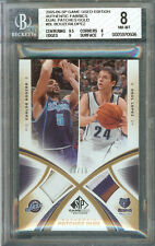 C BOOZER/R LOPEZ 2005-06 SP GAME USED ED AUTH FAB DUAL PATCH 1/10 #AF2P-BL BGS 8