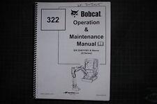 BOBCAT 322 Skid Steer Loader Operation Operators Maintenance Manual 2002 guide