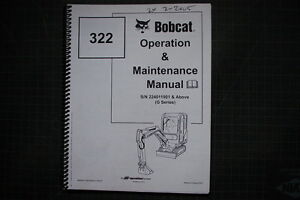 BOBCAT 322 Skid Steer Loader Operation Operators Maintenance Manual 2002 guide
