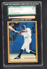 Alfonso Soriano 1999 Topps Traded Rookie Card #T65 SGC 96 MINT Game Used Bat