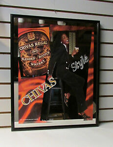 "Chivas Regal Blended Scotch Whisky Mirror Bar Sign - Chivas Style ~ 23"" x 19"""