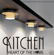 """""""KITCHEN IS HEART OF HOME"""" Quote DIY Removable Wall Decal"""