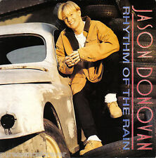 """JASON DONOVAN - Rhythm Of The Rain (UK 2 Tk 1990 7"""" Single PS)"""