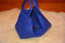 NEW HERMES LINDY 30 Shoulder Strap & Hand Bag Super Rare Color Clemence $8493