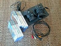 PS2 Console Bundle With 2 controllers 9 X Game's PlayStation 2 cable's UK seller