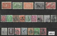 #6517   Early Stamp collection all different / Germania / Weimar / Germany / WWI