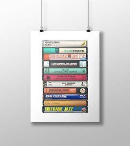 John Coltrane Poster: Cassette Print, Jazz Fan, Gift, Art