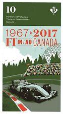2017 Canada SC# BK - 50th Anniversary Formula 1 Grand Prix - Booklet M-NH