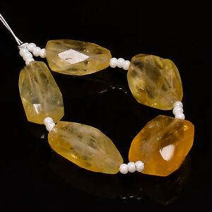 """100% Natural Citrine Tumbled Shape Faceted Beads 13X9 16X8 mm Strand 4"""" NW-3296"""
