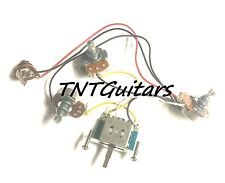 1V2T Prewired 2 Pickup Guitar Harness, Full-Size Large Pots & 3 Way Blade Switch