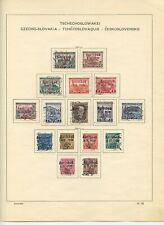 CZECHOSLOVAKIA Overprinted Stamps Collection KARLSBAD 1938