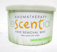 eScential hair removal wax with strips 14 ounce Aromatherapy Green Tea Brand New