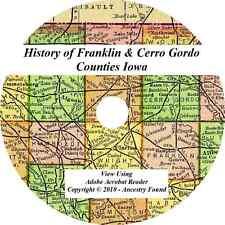 1883 History Genealogy FRANKLIN & CERRO GORDO COUNTY IOWA Hampton Mason City IA