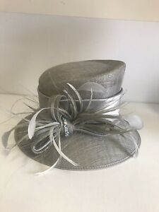 Beautiful Silver Grey Mother Of The Bride/wedding Hat By Ispirato