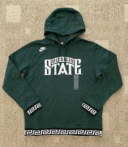 Mens Nike Sportswear Pullover Hoodie Sweatshirt Green Size XL Michigan State