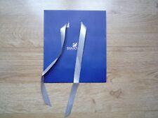 Logotipo de Swarovski bolsa de regalo por menor con cinta 18x8x21cm Azul Oscuro Reliebe Nuevo
