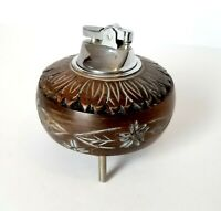 Vintage Music Box Wood Table Lighter Collectible - Japan