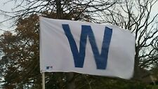 Chicago Cubs W Flag 3' X 5' NEW MLB CUBS WIN 2016 WORLD SERIES CHAMPIONS W FLAG