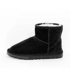 Unisex Australian Sheepskin Water Resistant Ankle Ugg Boot - Black
