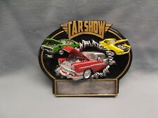 full color car resin oval plaque car show trophy BTX792 (G5) 3 car award