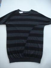 ZERO Pullover Tunika Streifen grau schwarz 42