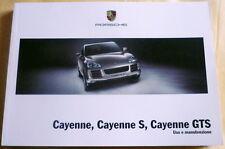uso manutenzione Porsche Cayenne GTS,Porsche modello 9PA,anno 2007
