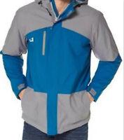 Neu Herren Funktions-,Outdoor,-Ski,-Snowbord Jacke grau petrol Kapuze Gr. 50 L