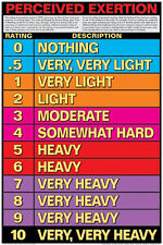 Fitness Workout RATING OF PERCEIVED EXERTION SCALE Gym Wall Chart POSTER