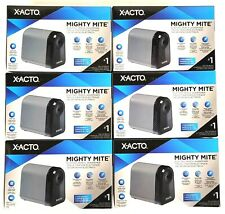 Lot Of 6 New X Acto Mighty Mite Electric Pencil Sharpener Black W19502