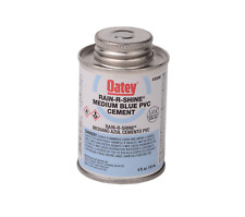 8 oz Pvc Cement Blue Rain-R-Shine 30891 Fast Setting for Wet or Dry Conditions