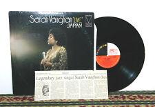 """Sarah Vaughan – """"Live"""" In Japan, 2 x LP Set, Signed Autograph - RARE, Jazz"""